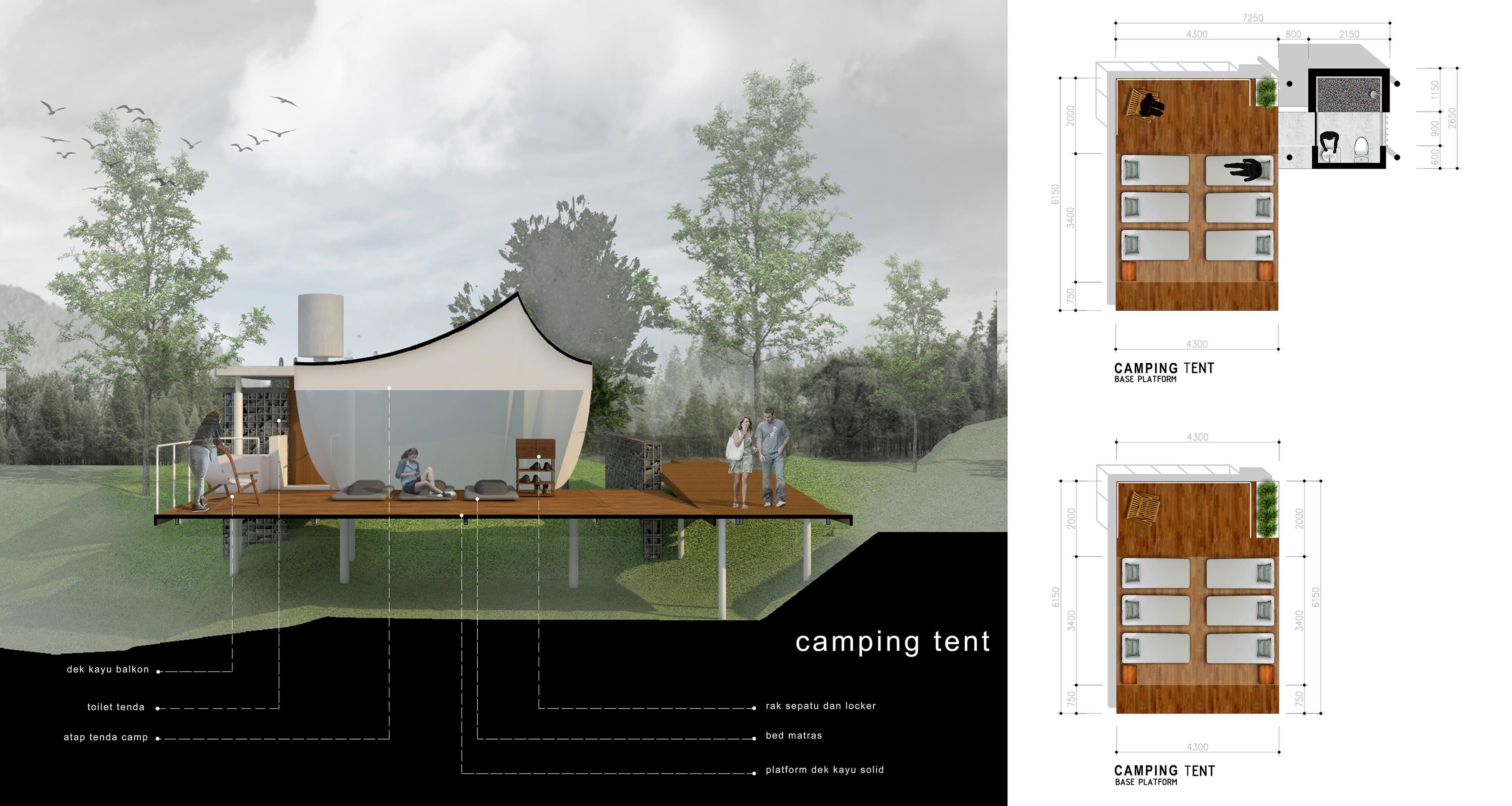 Bunga Hutan Camping Ground – camping tent